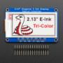 "Adafruit 2.13"" Tri-Color eInk / ePaper Display with SRAM - Red Black White"