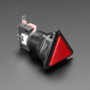 LED Illuminated Triangle Pushbutton A.K.A 1960s Sci-Fi Buttons - Red