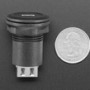 USB C Jack to USB A Jack Round Panel Mount Adapter