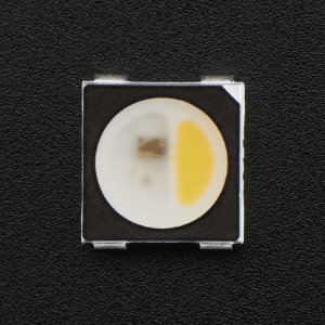 NeoPixel RGBW LEDs w/ Integrated Driver Chip - Warm White - ~3000K - Black Casing - 10 Pack