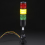 Tower Light - Red Yellow Green Alert Light with Buzzer - 12VDC