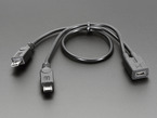 Micro B USB 2-Way Y Splitter Cable