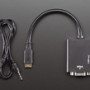 Mini HDMI to VGA Video Adapter with 3.5mm Stereo Cable