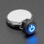 Mini Illuminated Momentary Pushbutton - Blue Power Symbol