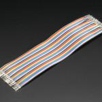 "remium Female/Female Raw Custom Jumper Wires - 40 x 6"" (150mm)"