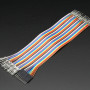 "Premium Male/Male Raw Jumper Wires - 40 x 6"" (150mm)"