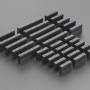 Large Dual Row Wire Housing Pack for DIY Jumper Cables
