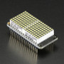 """Adafruit 0.8"""" 8x16 LED Matrix FeatherWing Display Kit - White"""