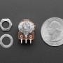 Panel Mount 10K Dual Linear Potentiometer w/ On-Off Switch - 10K Dual Linear w/ Switch