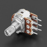 Panel Mount 10K Dual Log Potentiometer - 10K Dual Log