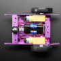 Purple Aluminum Chassis for TT Motors - 2WD