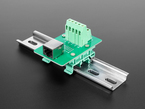 DIN Rail RJ-45 To Terminal Block Adapter - Right Angle Jack