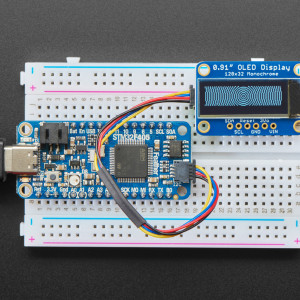 """Monochrome 0.91"""" 128x32 I2C OLED Display - STEMMA QT / Qwiic Compatible"""