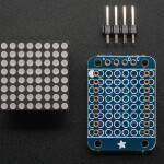 Adafruit Mini 8x8 LED Matrix  Backpack - Blue