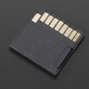 Black Shortening microSD adapter for Raspberry Pi & Macbooks