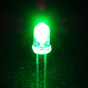 Super Bright Green 5mm LED (25 pack)