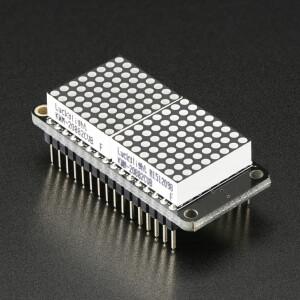 """Adafruit 0.8"""" 8x16 LED Matrix FeatherWing Display - Red"""