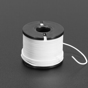 Silicone Cover Stranded-Core Wire - 50ft 30AWG White