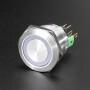 Rugged Metal Pushbutton - 22mm 6V RGB Momentary