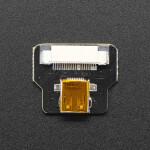 DIY HDMI Cable Parts - Straight Micro HDMI Socket Adapter