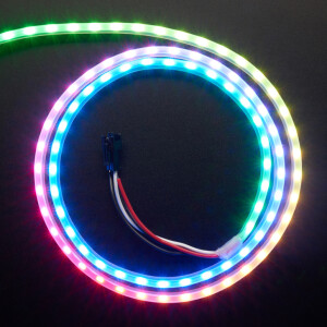 Adafruit NeoPixel LED Side Light Strip - Black 90 LED
