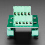 DIN Rail RJ-45 To Terminal Block Adapter - Vertical Jack