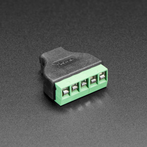 USB Micro B Female Socket to 5-pin Terminal Block
