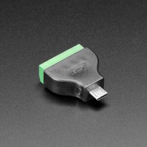 USB Micro B Male Plug to 5-pin Terminal Block