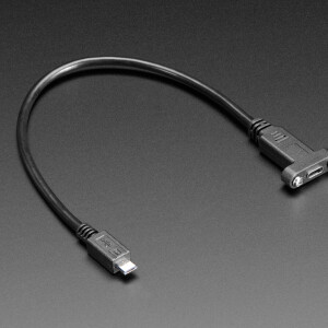 Panel Mount Cable USB C to Micro B Male - 30cm