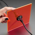 RJ-45 Ethernet Round Panel Mount Adapter Plug