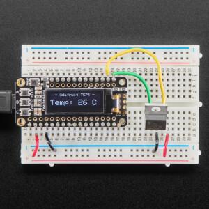Breadboard Friendly I2C Temperature Sensor - TC74A0 - TC74A0-5.0VAT