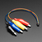 JST SH 4-pin Cable with Alligator Clips - STEMMA QT / Qwiic