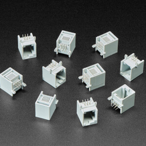 RJ12 Jack Connectors - EV3/NXT LEGO Compatible - Pack of 10