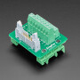 DIN Rail 2x8 IDC to Terminal Block Adapter Breakout