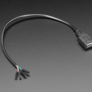 USB Type A Jack Breakout Cable with Premium Female Jumpers - 30cm long