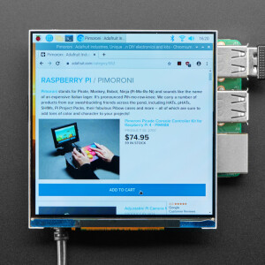 Pimoroni HyperPixel 4.0 Square - Hi-Res Display for Raspberry Pi - Non-Touch - PIM475