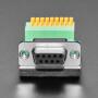 DE-9 (DB-9) Female Socket to Terminal Spring Block Adapter
