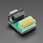 DE-9 (DB-9) Male Plug to Terminal Spring Block Adapter