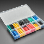 Pre-Cut Multi-Colored Heat Shrink Pack Kit - 280 pcs