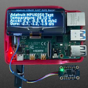 """Adafruit 2.23"""" Monochrome OLED Bonnet for Raspberry Pi"""