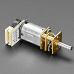 N20 DC Motor with Magnetic Encoder - 6V with 1:100 Gear Ratio