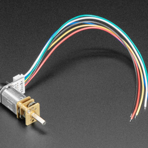 N20 DC Motor with Magnetic Encoder - 6V with 1:298 Gear Ratio