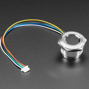 Rugged Panel Mount Fingerprint Sensor with Bi-Color LED Ring - R503