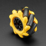 Right Mecanum Wheel - 48mm Diameter - TT Motor or Cross Axle