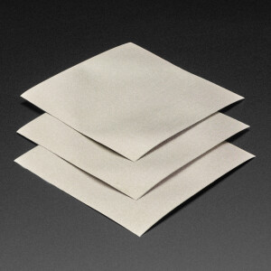 Nylon Fabric Squares with Conductive Adhesive - 10cm x 10cm - 3 pack