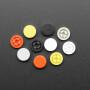 Plastic Button Caps For Square Top (10-pack) - 8mm Diameter