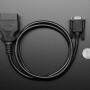 OBD Plug (16-pin) to DE-9 (DB-9) Socket Adapter Cable - 1 meter long