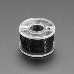 Ultra-Fine Stranded Wire Spool - 10 meters - 36AWG - Black