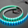 We carry all sorts of silicone-diffused NeoPixel strips, including these ultra-skinny 96-LED NeoPixel strips and these gloriously chonky neon-like strips. This 60 LEDs-per-meter Silicone Sheath NeoPixel strip is nicely in the middle. It has a semi-diffused look, thanks to the white silicone casing. The white rubber causes the LEDs to have a pastel shade, and of course they're incredibly durable.  It's flexible and bendy with a  tube of white translucent silicone rubber as a diffuser, it isnt a solid molded chunk like our neon, its just a non-clear version of the kind of tubing most NeoPixels come in. The silicone makes for a strong, durable weather-proof casing. While not guaranteed for dunking underwater or long-term outdoor exposure, they're durable enough for projects that have to survive the outdoors, like cosplay, bike lighting, or festival decorations. You can cut this stuff with wire cutters.  You'll get 1 meter long strip with JST SM 3 pin connectors at both ends.  Provide 5V on the power pins, and provide your standard issue NeoPixel (WS281x) data on the third pin - don't forget to share the ground pin between the 5V power supply and your microcontroller. Boom - you're glowin' in style.  Our detailed NeoPixel Uberguide has everything you need to use NeoPixels in any shape and size. Including ready-to-go library & example code for Arduinos, CircuitPython, and Raspberry Pi.