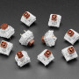 Kailh Mechanical Key Switches - Tactile Brown - 10 pack - Cherry MX Brown Compatible
